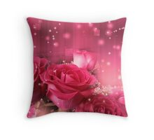 Roses in a Magic Light 2 Throw Pillow