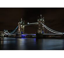 London Bridge at Night Photographic Print