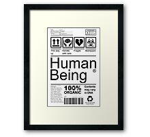 Human Being - Light Framed Print