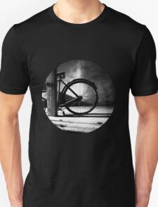 Old bicycle in a dusty attic Unisex T-Shirt