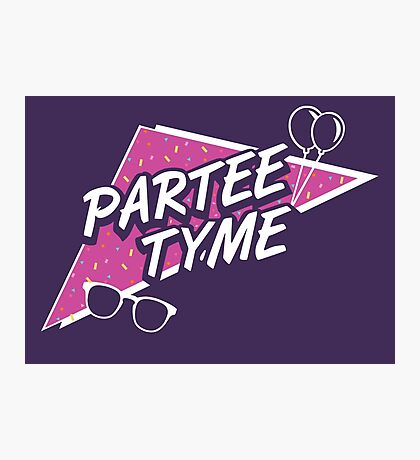 Official Dirty 30 - Partee Tyme Tee Photographic Print