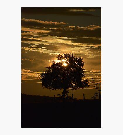 zon ondergang in Frankrijk  Photographic Print