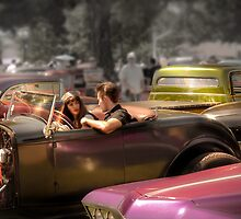 Portrait of a Hot Rod Couple by Paul Vanzella