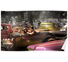 Portrait of a Hot Rod Couple Poster