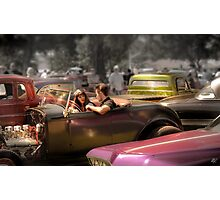 Portrait of a Hot Rod Couple Photographic Print