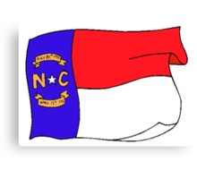 North Carolina State Flag Canvas Print
