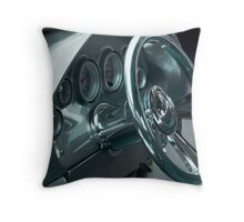 Chrome Gleam Machine Throw Pillow