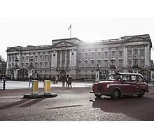 London cab at Buckingham Palace Photographic Print