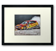 Keith Cronin, Subaru TEG Sports Rally Framed Print