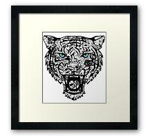 blue eyed tiger  Framed Print