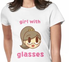 Girl with glasses Womens Fitted T-Shirt