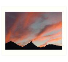 Sunset over Mt Warning Art Print
