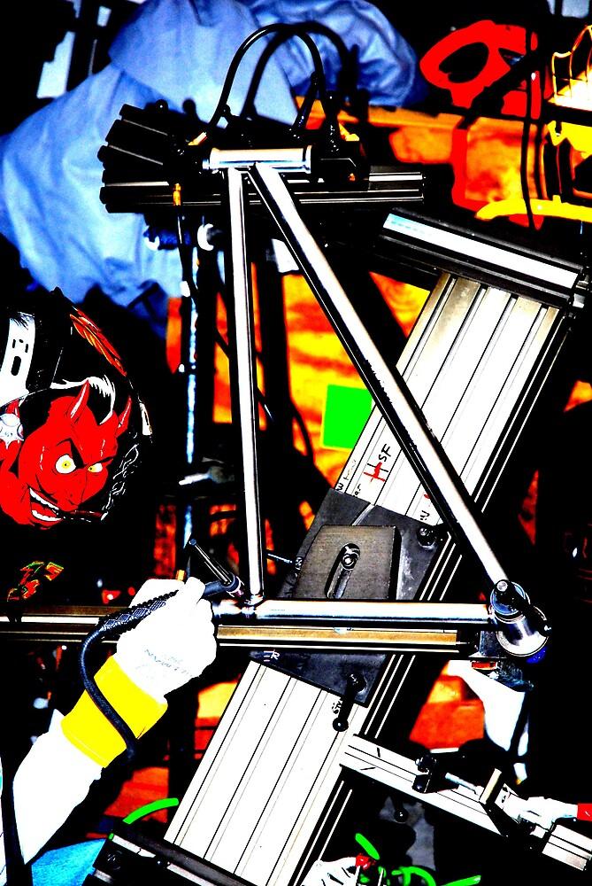 the devil welding a bike by Hawk