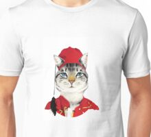 Original Greek Cat Art Print Unisex T-Shirt