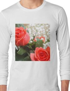 Soft red roses 3 Long Sleeve T-Shirt