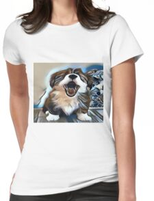The Sleepy Pup Womens Fitted T-Shirt