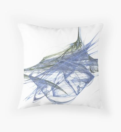 Water and Tree Mix Throw Pillow