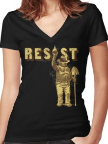 "Smokey Says ""Resist"" Women's Fitted V-Neck T-Shirt"