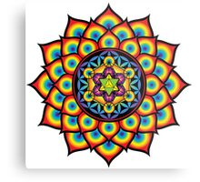 Flower of Life Metatron's Cube Metal Print