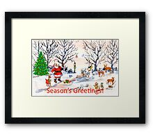 Season's Greetings to you! Framed Print
