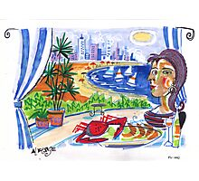Mrs Picasso overlooks the bay Photographic Print