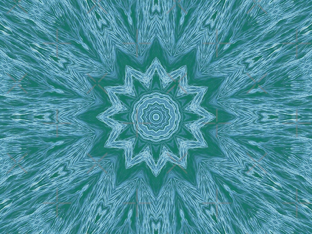 Kaleidescope - Teal Green by Sandra Chung