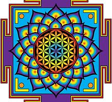 Flower of Life Mandala by GalacticMantra