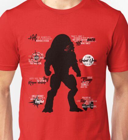 Mass Effect - Wrex Quotes Unisex T-Shirt