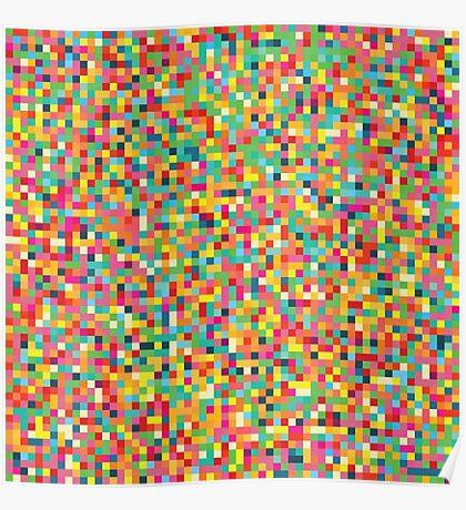 Pixel Art Pattern Poster