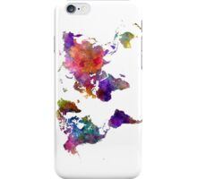 World map in watercolor  iPhone Case/Skin