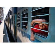 Train boy Photographic Print