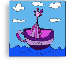 Silly Sailed Away In A Teacup Canvas Print