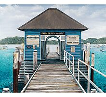 Palm Beach Wharf Photographic Print