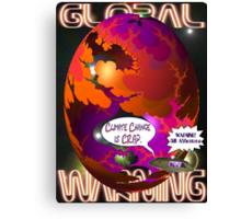 Climate Change Is Crap T-shirt Design Canvas Print