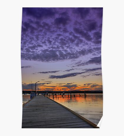 Croudace Bay Sunset 2 Poster