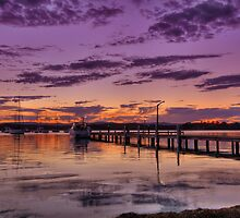 Croudace Bay Sunset 3 by Mark Snelson