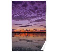 Croudace Bay Sunset 4 Poster
