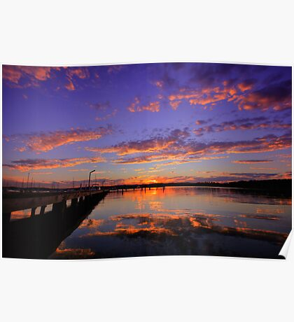 Croudace Bay Sunset 5 Poster