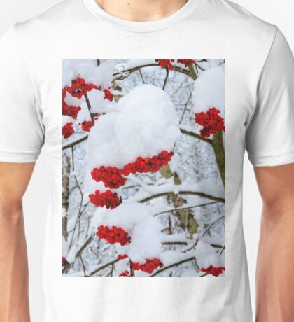 Winter Mountain ash berries Unisex T-Shirt