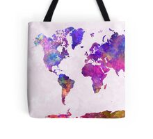 World map in watercolor  Tote Bag