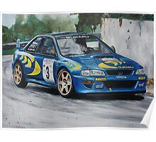 Colin McRae Subaru Impretza Poster