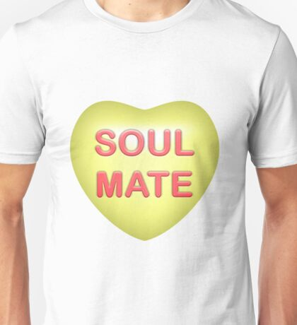 "Candy Gem Heart ""Soul Mate"" (Yellow) Unisex T-Shirt"