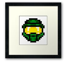 8-Bit Master Chief Green Framed Print
