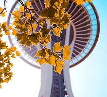 Space Needle In The Fall by mrdoomits