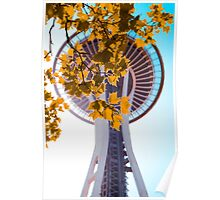 Space Needle In The Fall Poster