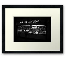 Milk Bar Noir Framed Print