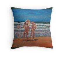 Samurai Beach, Anna Bay, NSW. Last annual nude beach, carnival.  Throw Pillow