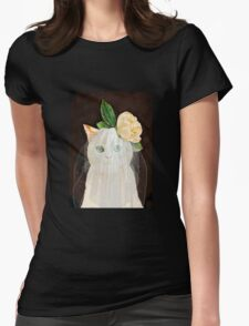 The Bride Cat Art Womens Fitted T-Shirt
