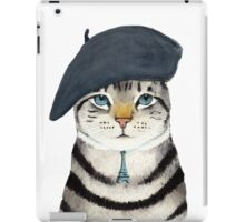 Charming French Cat  iPad Case/Skin