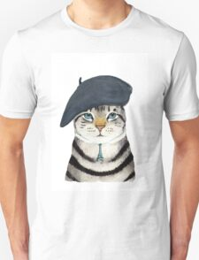Charming French Cat  T-Shirt